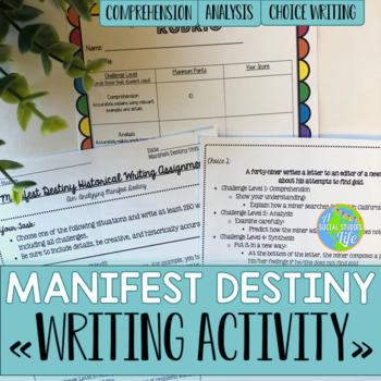 Manifest Destiny Historical Writing Project