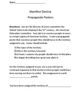 Manifest Destiny Propaganda Posters