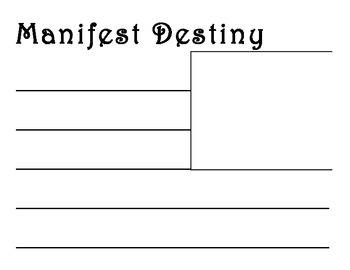 Manifest Destiny Word Wall Cards