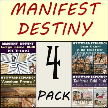 Manifest Destiny - Word Wall, Lewis & Clark, American Prog