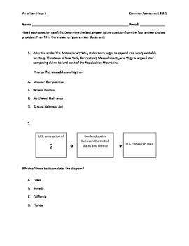 Manifest Destiny through Civil War assessment