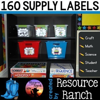 Supply Labels - Classroom Organization