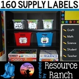 Supply Labels - Classroom Organization