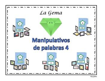 Manipulativos  de Palabras 4 letras B, J, G, C (suave), G