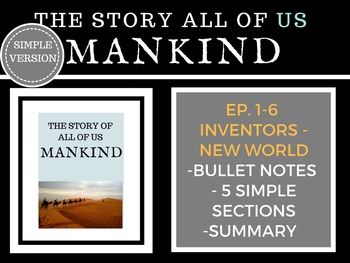 Mankind The Story of all of US  Episodes 1-6 Bundle Histor