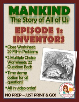 Mankind the Story of All of Us Episode 1 Worksheets and Tests