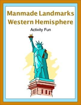 Manmade Landmarks Western  Hemisphere Activity Fun