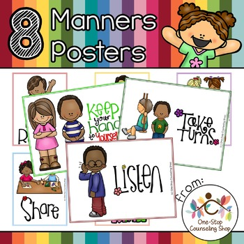 Manners & Rules Posters & Coloring Pages