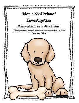 """Man's Best Friend"" Common Core Activities to Accompany De"