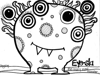 Many Eyes Monster Coloring Page
