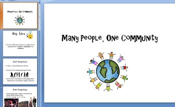 Many People, One Community (PowerPoint)