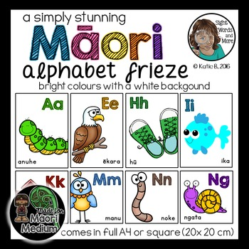 Maori Alphabet Posters with white background