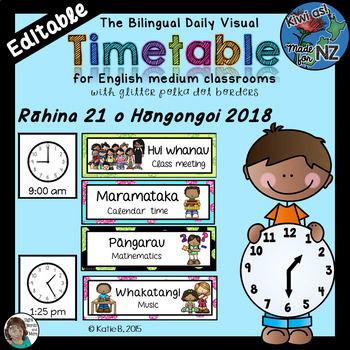 Maori & English Bilingual Timetable