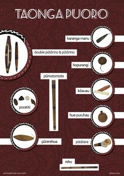 Maori Instruments Taonga pūoro