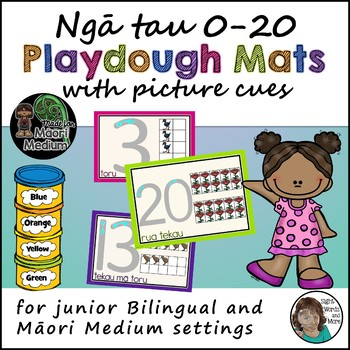 Maori Numbers (picture support) Playdough Mats