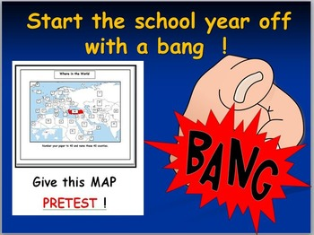 Map Activity First Day of School