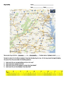 Map Activity using scale
