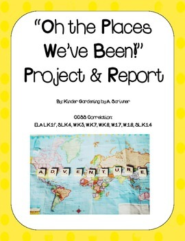 Oh The Places We've Been! Map Project (Goes great with K R