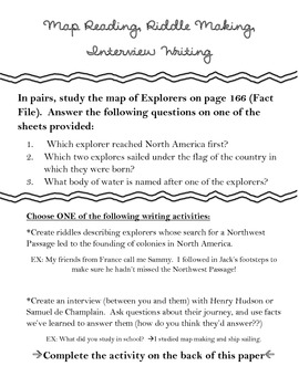 Map Reading & Creative Writing (New France)