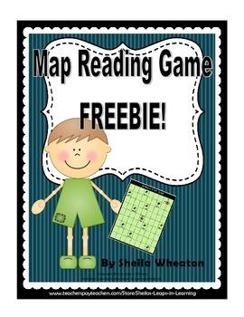 Map Reading Game FREEBIE!