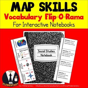 Map Skills Vocabulary Interactive Notebook