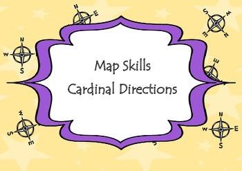 Map Skills Cardinal Directions Activity Worksheets