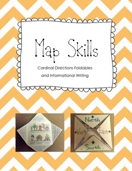 Map Skills Cardinal Directions Foldable