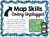 Map Skills & Compass Directions ~ Coding Unplugged Challen