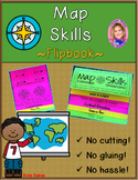NEW Map Skills DOUBLE-SIDED Flipbook!