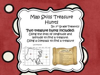 Map Skills: Treasure Hunts using Compass and Longitude and