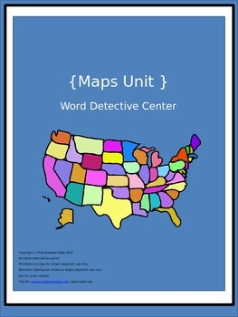 Map Themed:  Word Detective