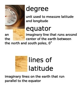 Map Vocabulary Cards