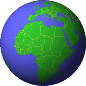 Map of Africa and French Geographical preposition activity