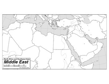 Map of North Africa and Western Asia