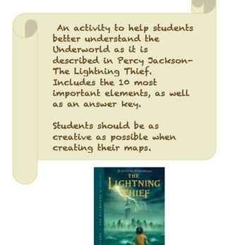 Draw a Map of The Underworld- Percy Jackson and The Lightn
