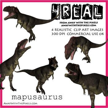 Mapasaurus - 4 Realistic Dinosaur Clip Art Images
