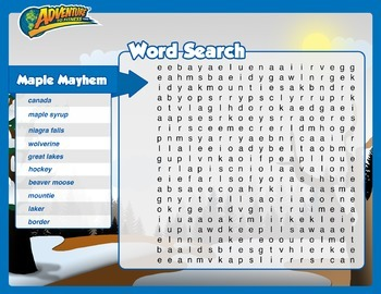 Maple Mayhem Word Search