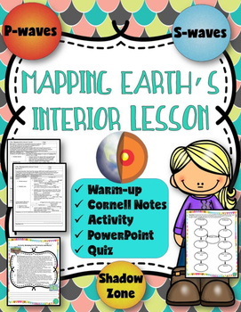 Mapping Earth's Interior Lessons (Notes, PowerPoint, & Act