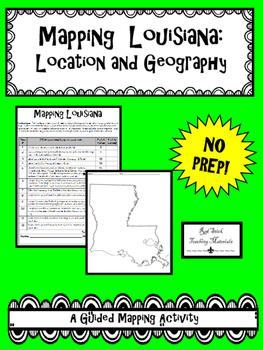 Mapping Louisiana's Geography--No PREP!