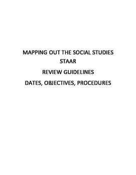 Mapping Out the Social Studies STAAR Review Guide