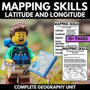 Mapping Skills And Activities - Geography - Latitude and L
