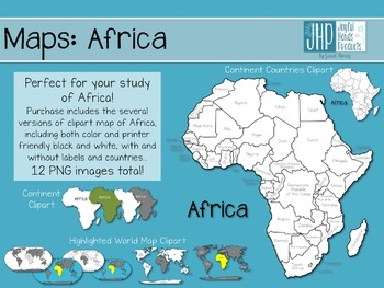 Maps: Africa (clipart)