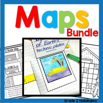 Maps - BUNDLE - Close Reading, Map Key, Scale, Theme, Poli