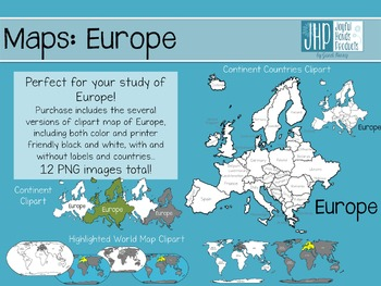 Maps: Europe (clipart)