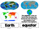 Maps, Oceans, and Continents Vocabulary Cards