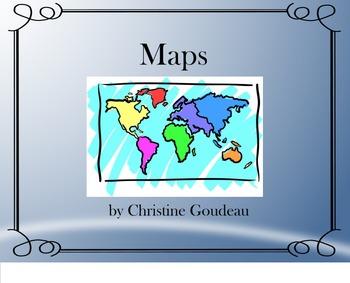 Maps Unit - SMARTboard, Notes, Quiz & Project