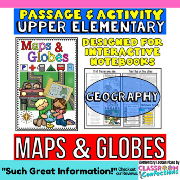 Maps and Globes: Reading Passage and Activity: Great for I