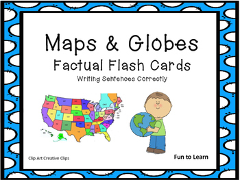 Maps and Globes    Facts Flash Cards
