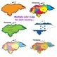Maps of Central America: Clip Art Map BUNDLE