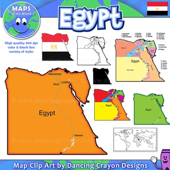 Egypt Maps: Clip Art Map Set